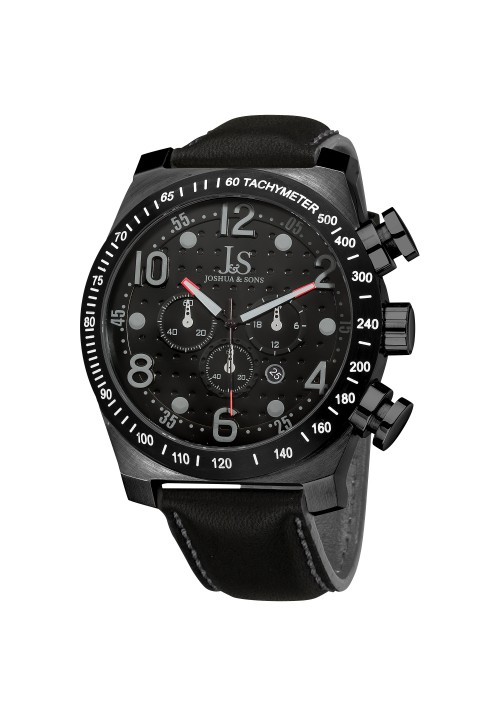 Vanquish Dimple Dial Chronograph Leather Strap JS-14