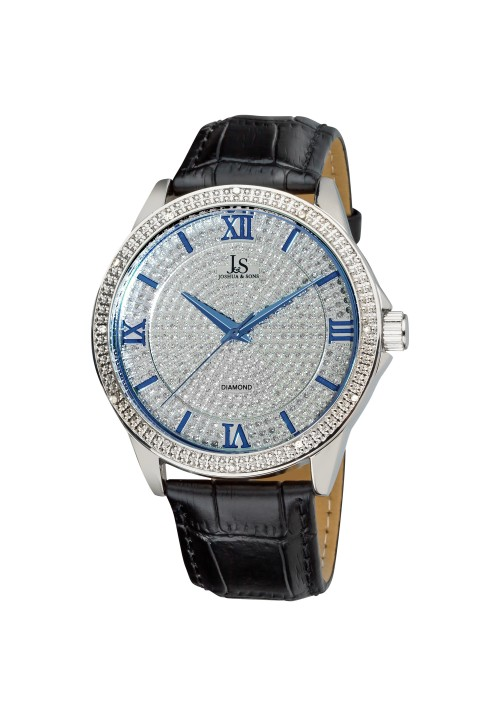 Imperial Pave Dial Diamond Bezel Leather  JS-19