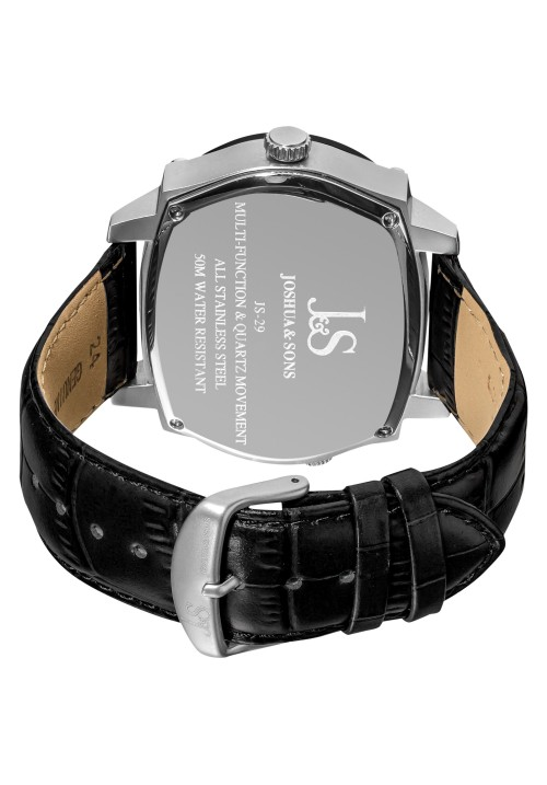 Navigator Dual Time Zone Multifunction Leather JS-29