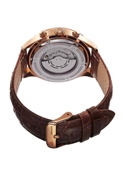 Imperial Pave Dial Circle Bezel Leather  JS-41