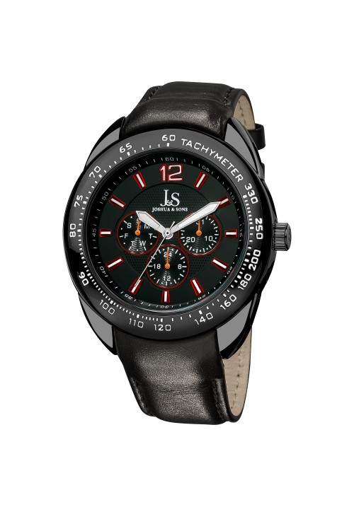Navigator Tachymeter Bezel Multifunction Leather JS-45