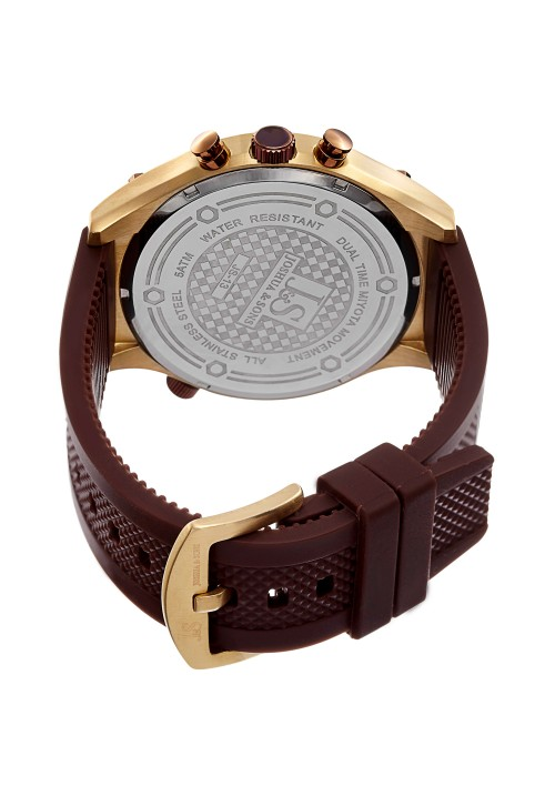Navigator Dual Time Checker Dial Chronograph Rubber JS-13