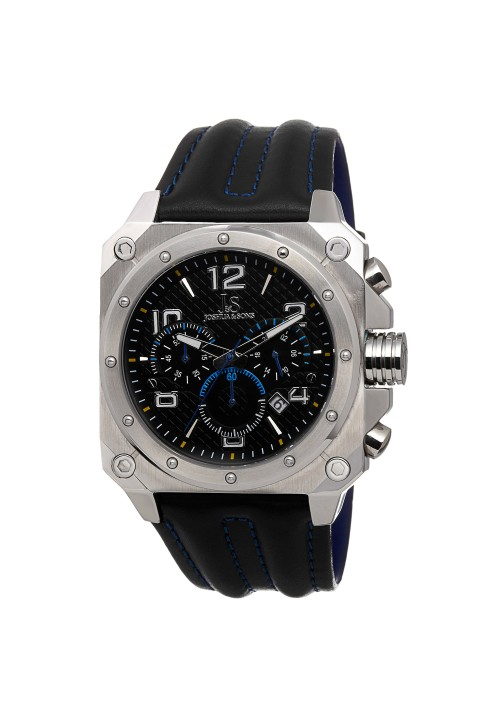 Vanquish Square Case Chronograph Leather Strap JS48