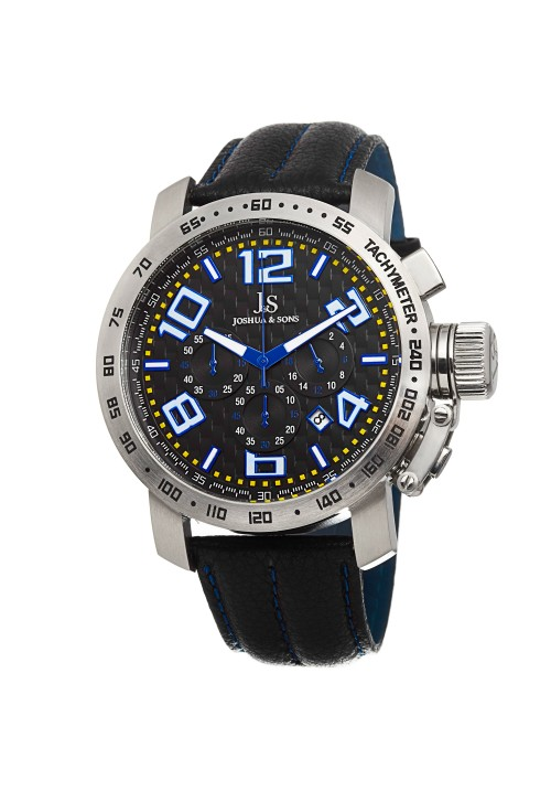Tracer Checkered Dial Chronograph Leather Strap JS49