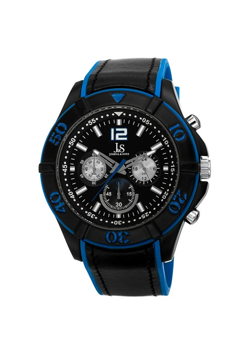 Tracer Ratcheting Bezel Chronograph Leather Strap JS51