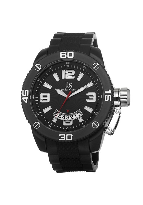 Tracer Sunray Dial Date Arch Rubber Strap JS54