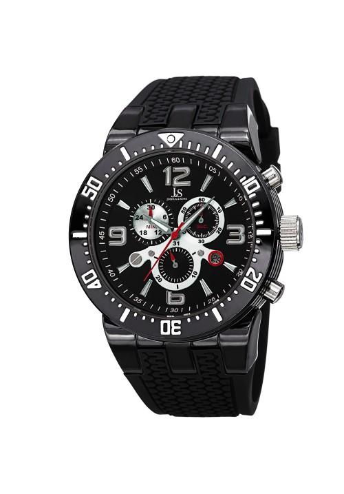 Tracer Milled Bezel Chronograph Rubber Strap JS55