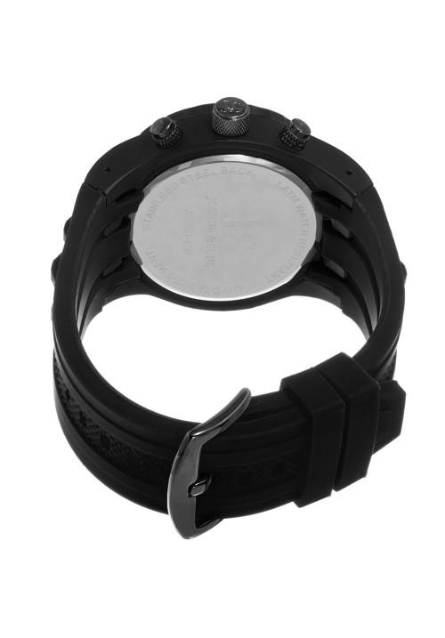 Vanquish Gear Bezel Chronograph Rubber Strap JS59