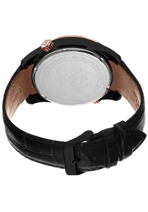 Navigator Dual Time Date Arc Leather JS72