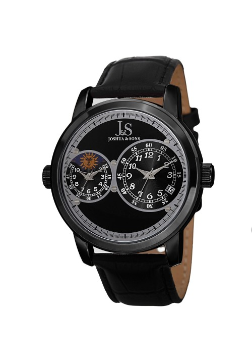 Navigator Dual Time AM/PM Leather Strap JS87