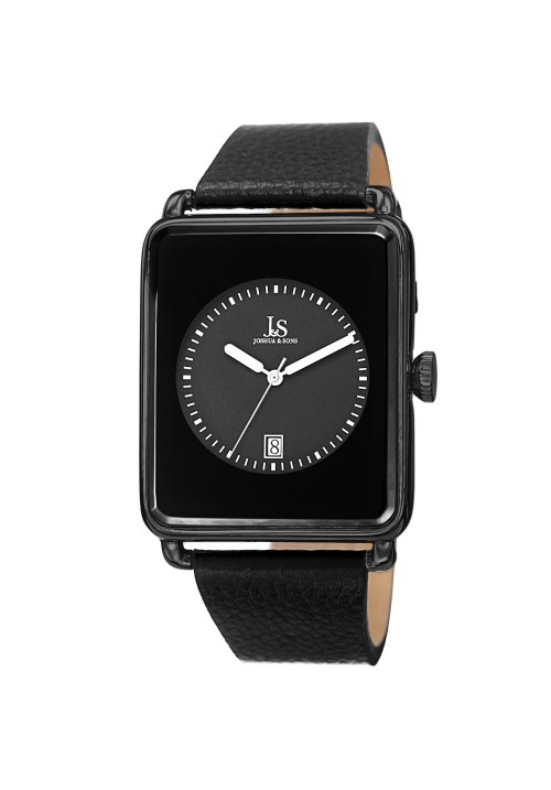 Imperial Rectangular Case Circle Dial Leather JS95