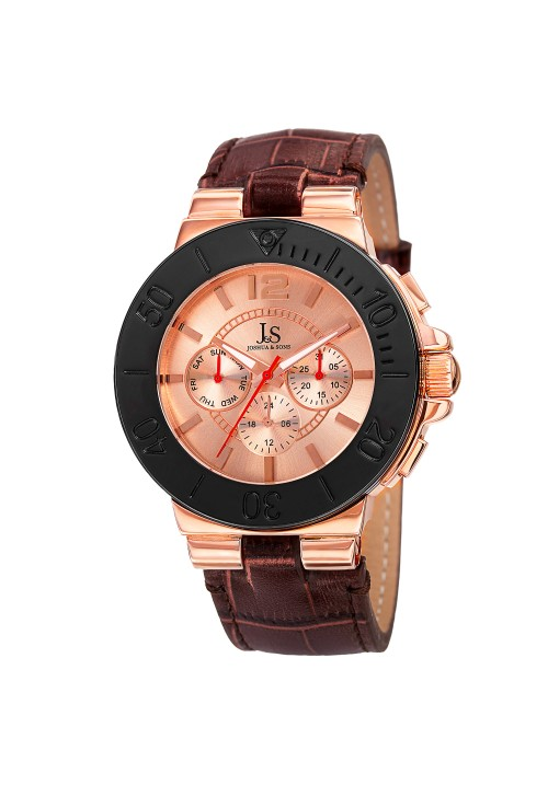 Imperial Brushed Dial Multifunction Leather JS96