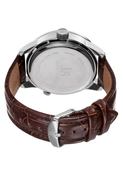 Navigator Dual Time Multifunction Leather Strap JS97