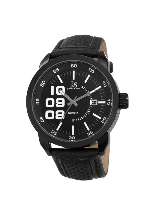 Vanquish Oversized Arabic Numeral Leather Strap JX106
