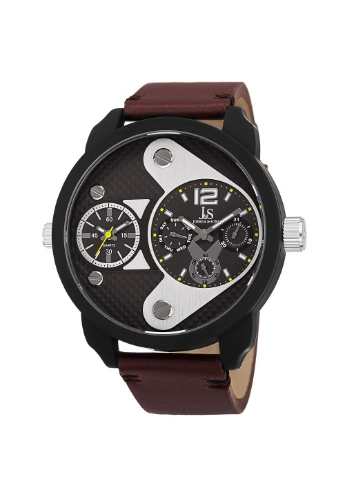 Navigator Arrow Dial Multifunction Leather Strap JX107