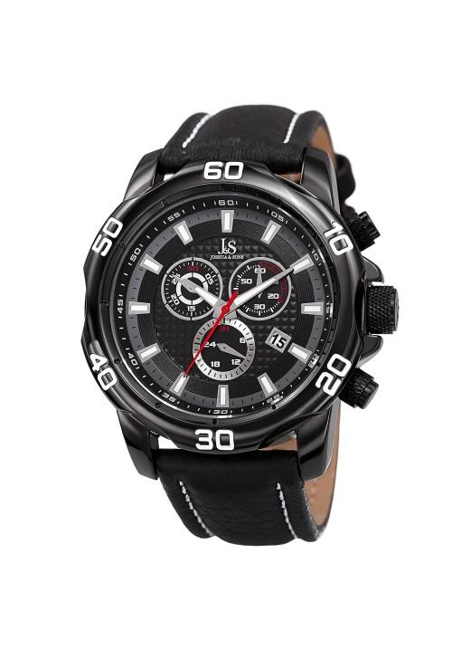 Vanquish Gear Bezel Chronograph Leather Strap JX109