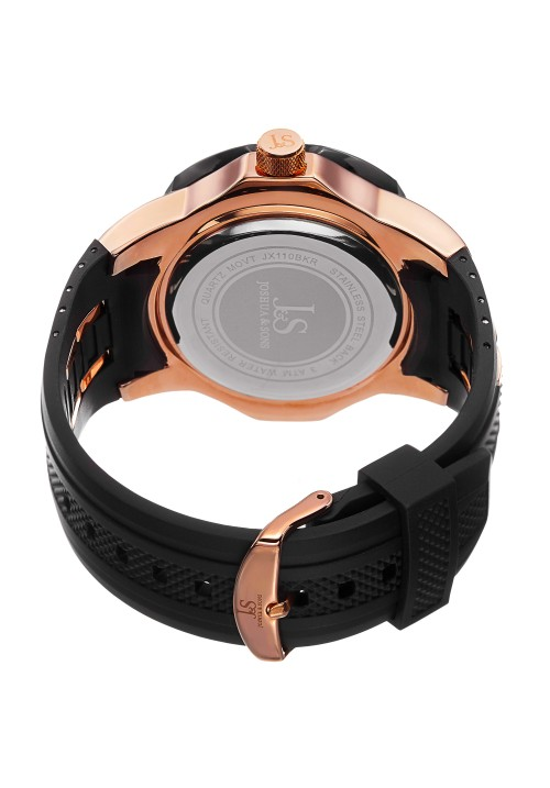 Tracer Milled Gear Bezel Record Dial Rubber Strap JX110