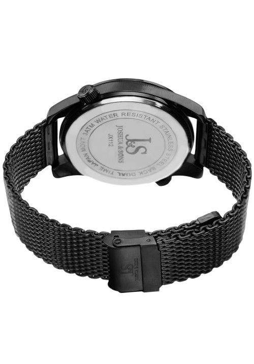 Navigator Dual Time Record Dial Mesh Bracelet JX112
