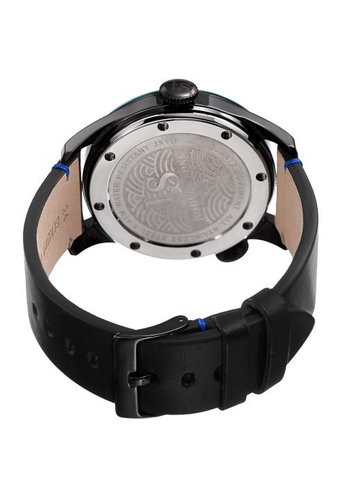 Navigator Matte Dial Dual Time Leather Strap JX118