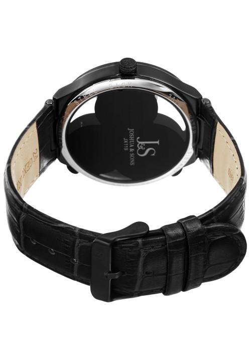 Navigator Skeleton Dial Triple Time Zone Leather JX119