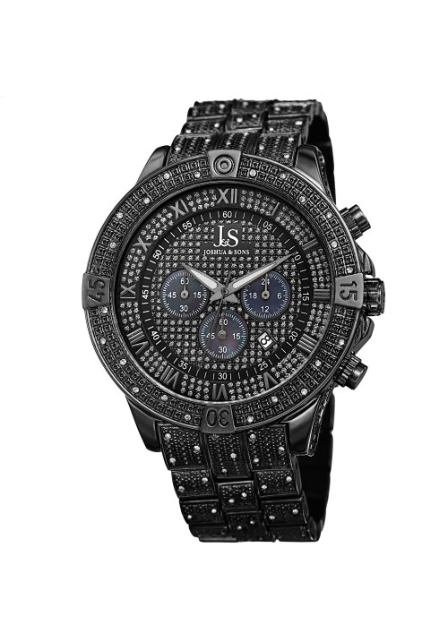 Imperial Pave Dial Crystal Studded Bezel and Bracelet JX121
